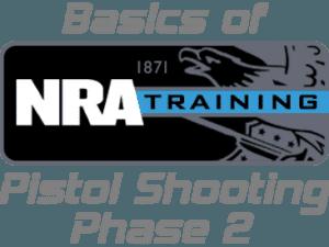nra training pistol shooting phase 2 logo
