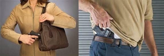 concealing a gun