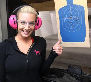 girl at range